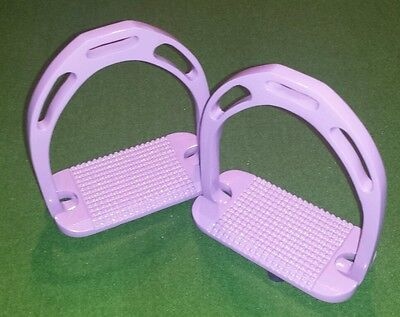 "Stirrups, Purple, 4.75"", lightweight Aluminium Stirrups. High grip tread"