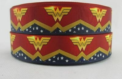 Grosgrain Ribbon Wonder Woman Logo Marvel avengers (1m, 2m or 5m)