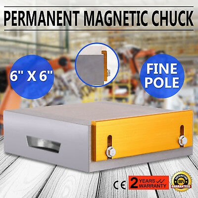 "6""x6"" Fine Pole Magnetic Chuck Machining No Heat Grinding Permanent Top"