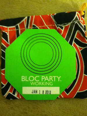 Bloc Party Back Stage Pass