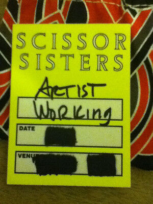Scissor Sisters Back Stage Pass