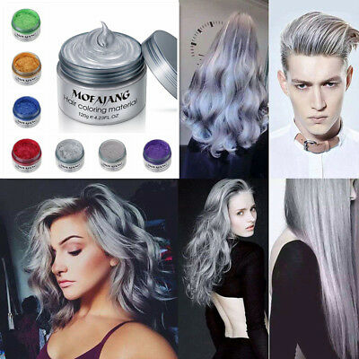 VogueUnisex DIY Hair Color Wax Mud Dye Cream Temporary Modeling7 color Available