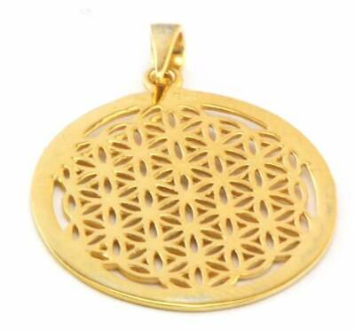 Flower Of Life Pendant (Gold)