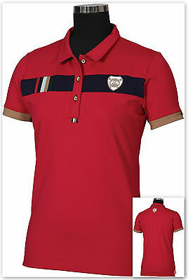 Equine Couture Ladies Jillian Polo Shirt -  Berry / Navy - Small