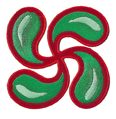 embroidered badge patch fusible Cross BASQUE Country Euskadi patch