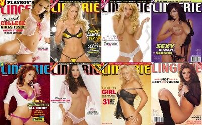 Playboy's Full & Complete Lingerie Magazine Collection 151 Issues In PDF On DVD