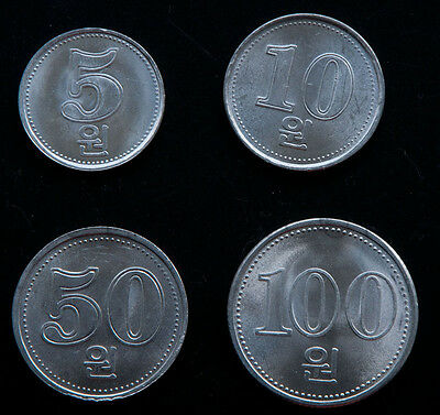 Korea 4 coins set 2005 UNC (#254)