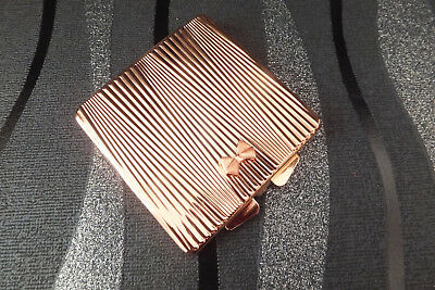 Ted Baker Genuine Rose Gold Double Sided Compact Travel Purse Mirror Brand New