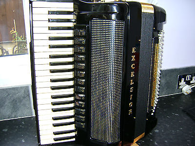 Excelsior Symphony Gold Piano Accordion  With Hand Made Reeds  Reduced By £750