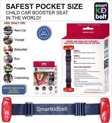 Smart Kid Belt Pocket Size Safest Car Seat Booster Group 2/3 miFold Bubblebum