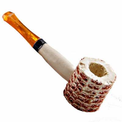 1x Corn Cob Smoking Tobacco Pipe Enchase Cigarettes Cigar Pipes Wood Handle Gift