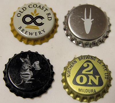 Collectible Group Of 4 Uncrimped Australian Bottle Caps/tops Group 12 - New