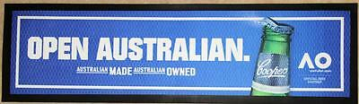 Collectible Coopers Australian Open Rubber Back Bar Runner - Excellent