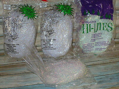 Vintage Twinkle Trim Glass Free Alternative to Angel Hair Icicles Christmas Tree