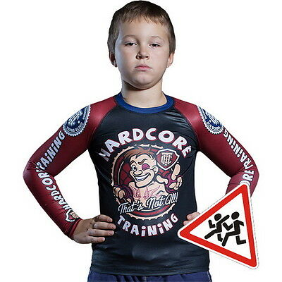 Kids Rashguard Hardcore Training Cartoon Niño Compresión superior MMA Fitness