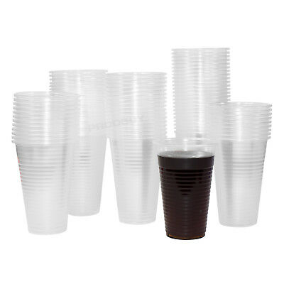 200ml Clear Plastic Water Cooler Cups 7oz Disposable Beakers Office School Party