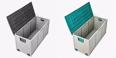 Outdoor Garden Plastic Storage Box Utility Chest Cushion Shed 290L