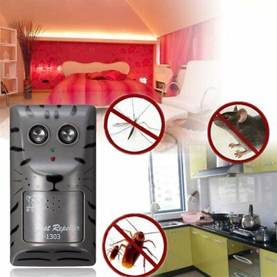Household Double Head Electronic Ultrasonic Pest Control Repell Mouse Repeller X