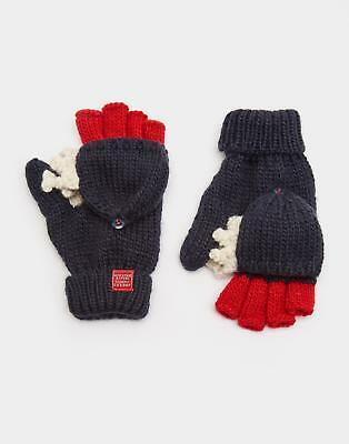 Joules 124480 Boys Chummy Character Glove with Jersey Lining in Navy Shark