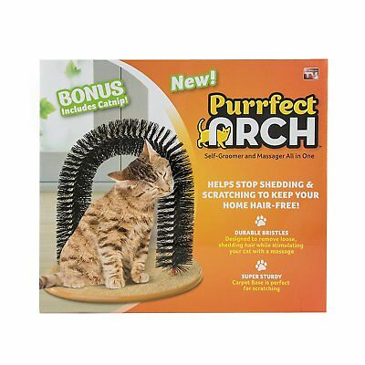 JML Purrfect Arch: Cat Self-Grooming & Massaging Toy Removes Loose Fur (JML)