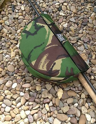 3 X Peak angling products camo cordura reel pouch case carp fishing