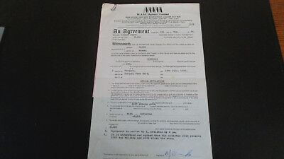 Slade Contract Torquay Town Hall Uk 12 July 1972 Signed By Manager Chas Chandler