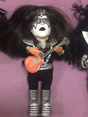 Kiss Sound Alike ACE Frehley figure 2004 play music - Gene Simmons Paul Stanley