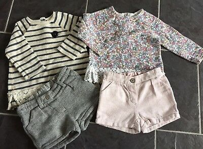 Gorgeous Girls Next Autumn/Winter bundle outfit set, 12-18 wool shorts & jumpers