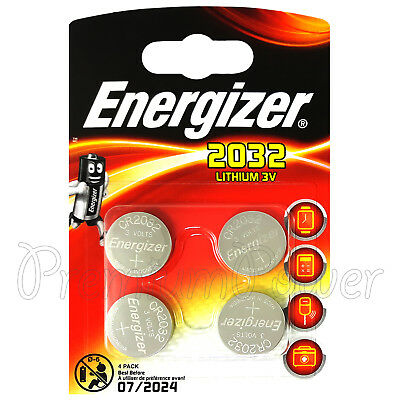 4 x Energizer Lithium CR2032 batteries 3V Coin cell DL2032 EXP:2024 Pack of 4