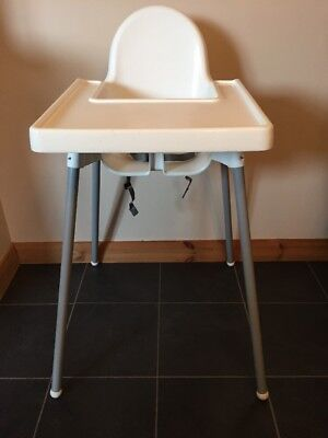 ikea antilop high chair with tray white picclick uk. Black Bedroom Furniture Sets. Home Design Ideas