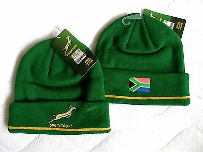 OFFICIAL SPRINGBOKS SOUTH AFRICA 2018 RUGBY BEANIE HAT Tuque Hut NEW OSFM