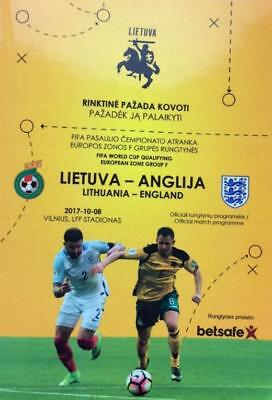 * 2017 - LITHUANIA v ENGLAND (WORLD CUP QUALIFIER - 8th October 2017) *
