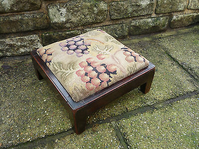 Rare Mahogany Stool by 'Disabled Soldiers Embroidery Industry'