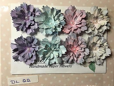 Gorgeous Assorted Packs of Handmade Crafting Paper Flower Embellishments