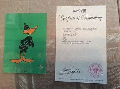 Daffy Duck Sericel Limited Edition
