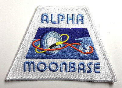 """Space:1999  Moonbase Alpha w Orbits 4"""" Wide Uniform Patch-USA Mailed (SPPA-1906)"""