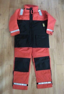 New Mullion Thermotic Flotation Suit Dungarees Jacket Red Black L Height 5'9-6'1