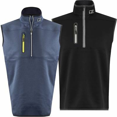 Cutter & Buck 2017 Mens Golf Thermal Tech Windproof Half Zip Golf Sweater Vest