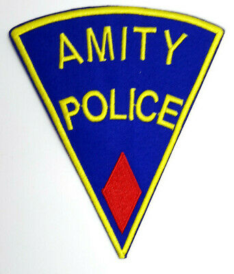 """JAWS Movie RED Amity Police  5"""" Embroidered Patch- Mailed from USA (APPA-02)"""