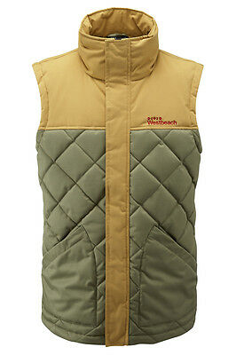 Westbeach Men's Walden Vest in Commando (Green/Yellow). Size L. RRP £100.
