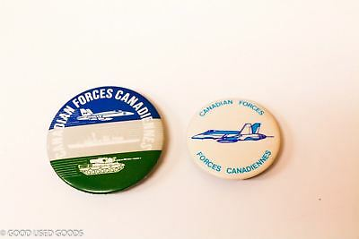 "Vintage Canadian Forces Pins 2"" and 1 1/2"" in size"