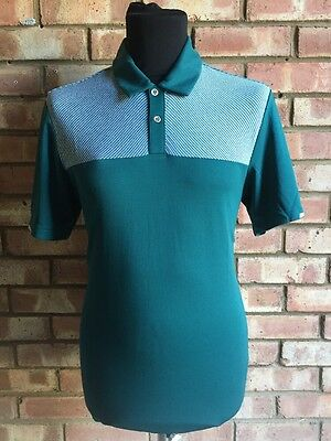 Adidas Golf ClimaChill Heather BLOCK Competition Polo Green UK Small BC2939