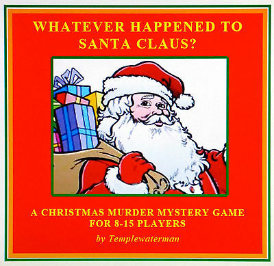 HOST A CHRISTMAS MURDER MYSTERY DINNER PARTY GAME ~ for 8-15 players