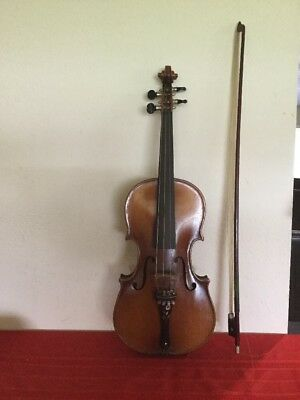 Vintage Violin  Antonius Stradivarius Copy Made In Czecho-slovakia