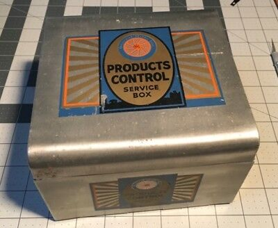 General Mills Metal Recipe Products Control Service Box full of recipes & info