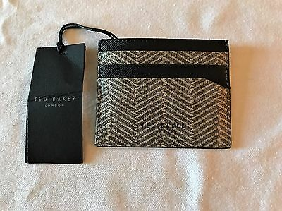 Ted Baker Herringbone Card Holder in Grey NWT MSRP $75.00