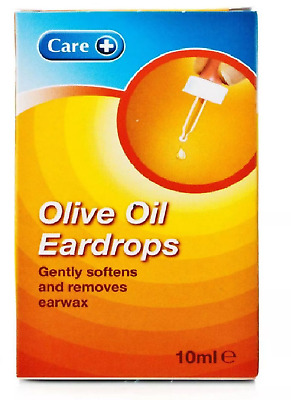 Care + Extra Virgin Olive Oil Wax Eardrops Softens Removes Earwax + Dropper 10ml