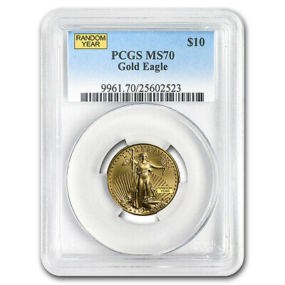 1/4 oz Gold American Eagle MS-70 PCGS (Random Year) - SKU #83504