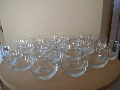 Piedmont Airlines Roly Poly glasses