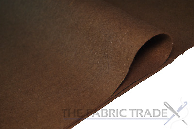 Dark Brown Craft Felt Fabric Material - 100% Acrylic - 2mm Thick - 150cm Wide